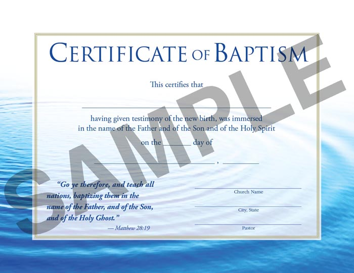 Certificate of baptism rb regular baptist press bookstore certificate of baptism sample image pronofoot35fo Choice Image