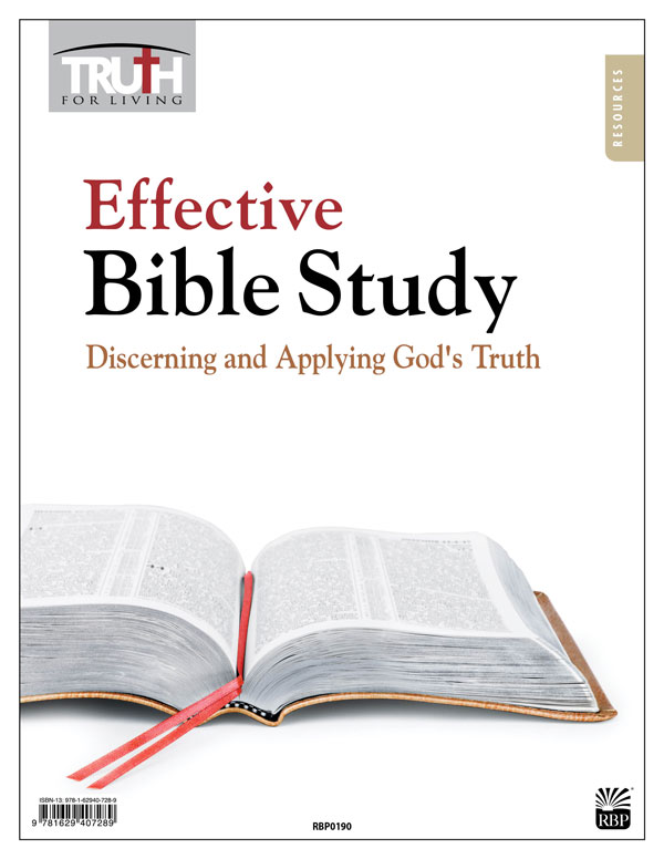 Effective Bible Study: Discerning and Applying God's Truth <br>Adult Transparency Packet