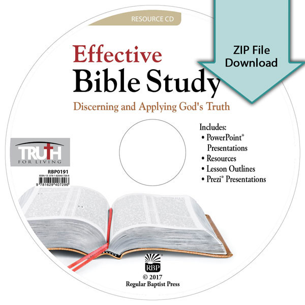 Effective Bible Study: Discerning and Applying God's Truth<br>Resource CD Download
