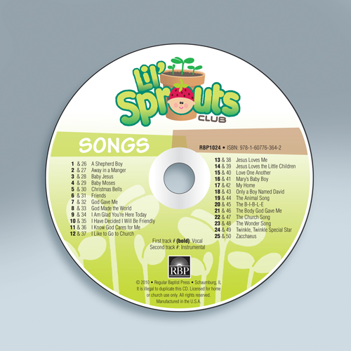 Lil' Sprouts Club<br>Music CD
