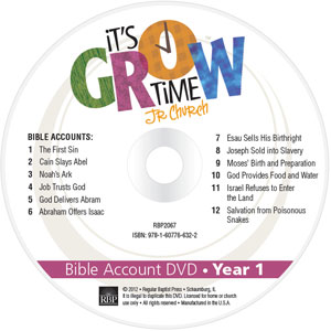 It's Grow Time <br>Year 1 Bible Account DVD