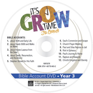 It's Grow Time <br>Year 3 Bible Account DVD