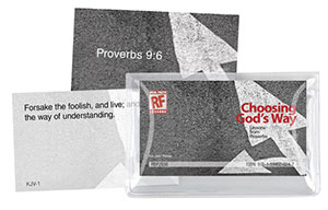 Choosing God's Way <br>Senior High Memory Verses Card Pack