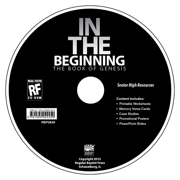 In the Beginning: The Book of Genesis <br>Senior High Teacher's Resource CD