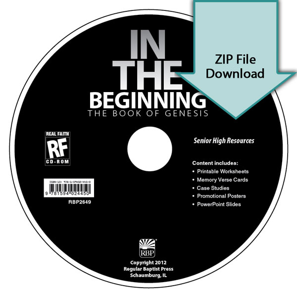 In the Beginning: The Book of Genesis Senior High Teacher's Resource Download