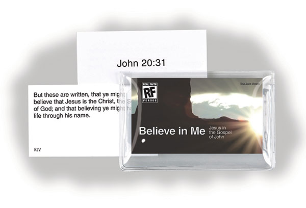 Believe in Me: Jesus in the Gospel of John <br>Senior High Memory Verses Card Pack