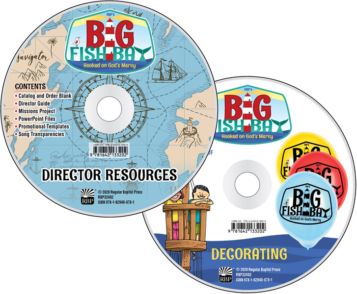 Big Fish Bay Director Resource CD Set<br>VBS 2020