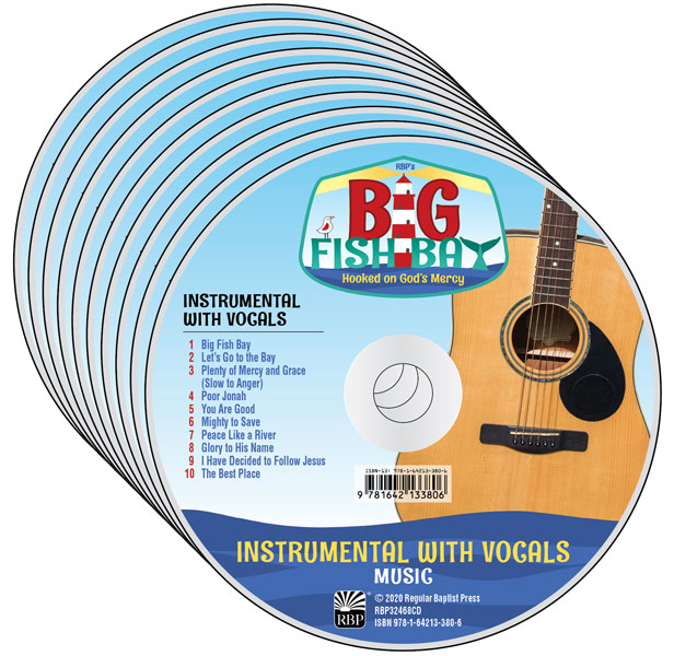 Big Fish Bay Music CD 10-pack<br>VBS 2020 - Instrumental with Vocals