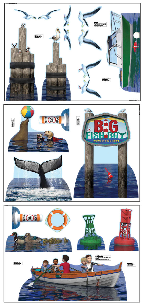 Big Fish Bay Cutouts<br>VBS 2020