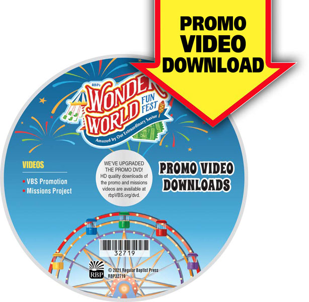 Wonder World Funfest Promotional Video Downloads<br>VBS 2021