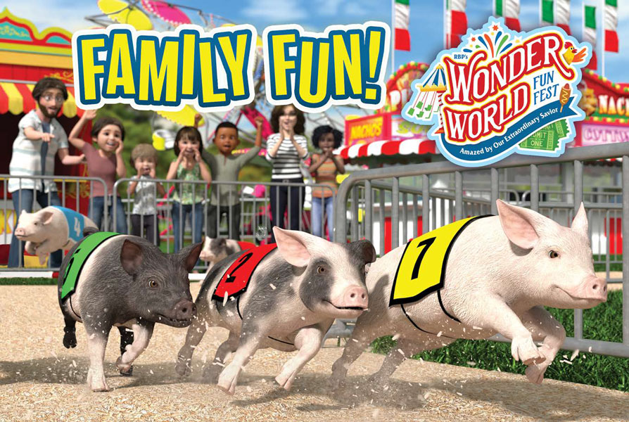 Wonder World Funfest Family Fun Sheets<br>VBS 2021