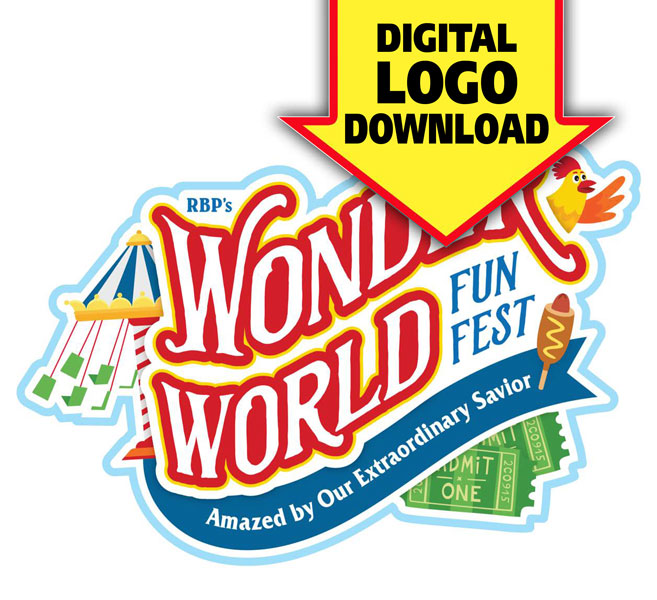 Wonder World Funfest Logo & Print License<br>VBS 2021