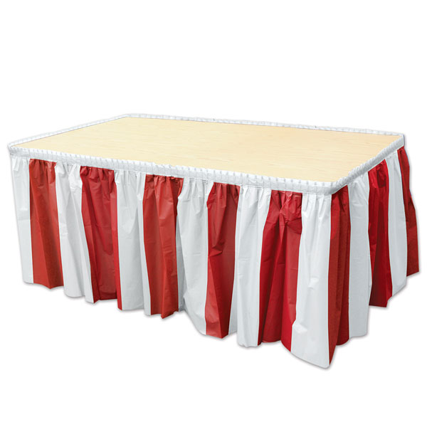Red & White Table Skirt <br>VBS 2021