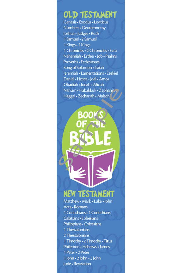 Bookmark - Books of the Bible/Kids