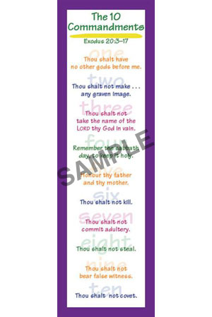 Bookmark - 10 Commandments/Kids