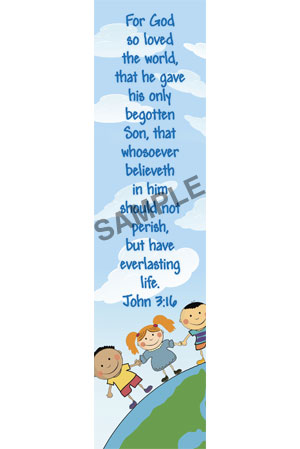 Bookmark - John 3:16/Kids
