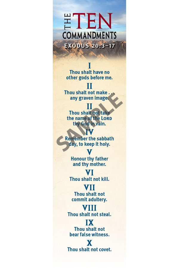 Bookmark - 10 Commandments