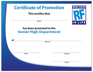 Promotion Certificate to Senior High Department
