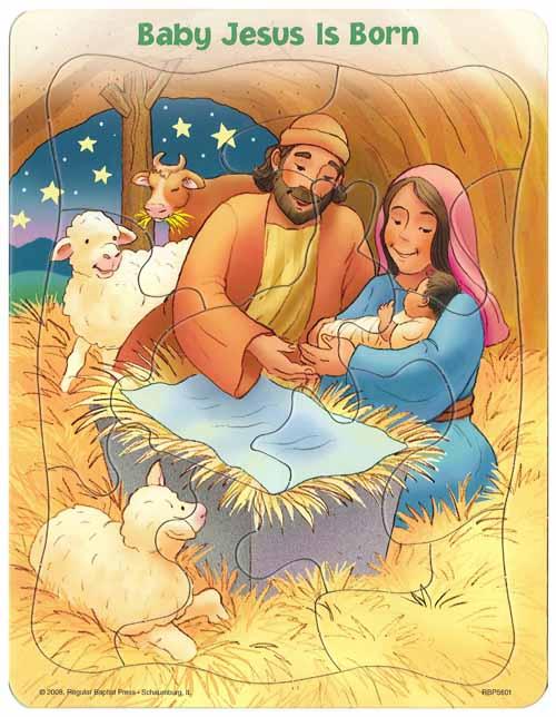 Puzzle Baby Jesus Is Born