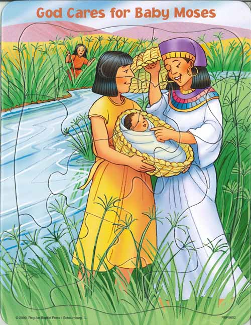 Puzzle - God Cares for Baby Moses