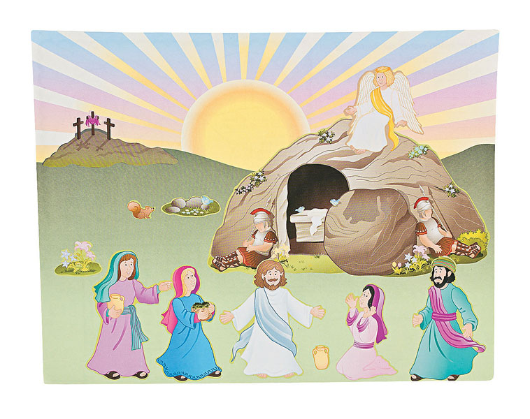 Jesus Lives Sticker Scenes