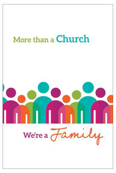 More than a Church, We're a Family—Welcome Folder