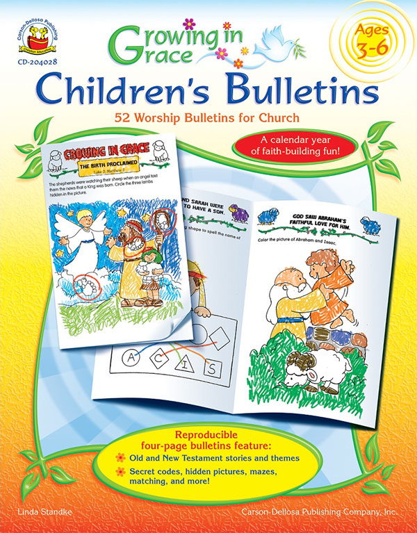 Growing in Grace <br>Children's Bulletins