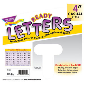 4 Inch Ready Letters-White