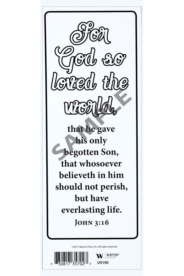 John 3:16 Coloring Bookmark