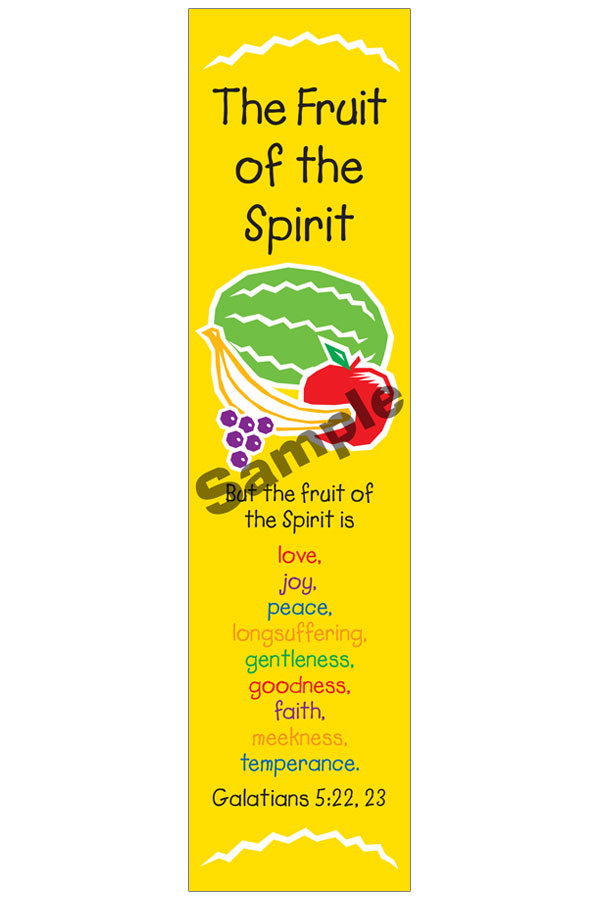 Classroom Decorations For Summer ~ Bookmark fruit of the spirit kids